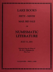 Fifty-Ninth Mail Bid Sale of Numismatic Literature
