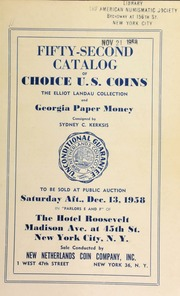 Fifty-second catalog of choice U. S. coins : the Elliot Landau collection and Georgia paper money. [12/13/1958] (pg. 48)