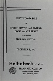Fifty-Second Sale of United States and Foreign Coins and Currency