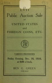 Fifty-seventh auction sale : United States and foreign coins, etc. [12/16/1910]