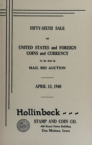 Fifty-Sixth Sale of United States and Foreign Coins and Currency