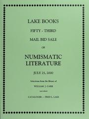 Fifty-Third Mail Bid Sale of Numismatic Literature