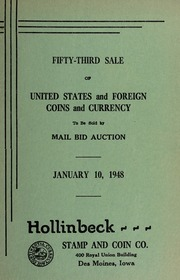Fifty-Third Sale of United States and Foreign Coins and Currency