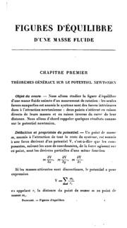 Figures d-équilibre d-une masse fluide: Leçons professées à la Sorbonne en 1900