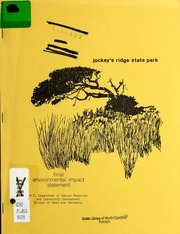 Vol 1979: Jockeys Ridge State Park : final environmental impact statement