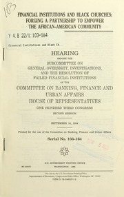 research paper african american financial institutions