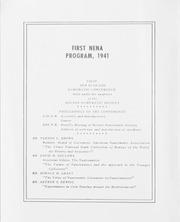 First NENA Program, 1941 Flier