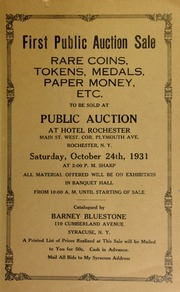 First public auction sale : rare coins, tokens, medals, paper money, etc. [10/24/1931]