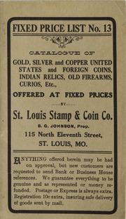 St. Louis Stamp & Coin Co. Fixed Price List No. 13