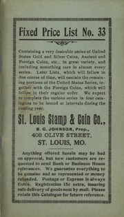 St. Louis Stamp & Coin Co. Fixed Price List No. 33