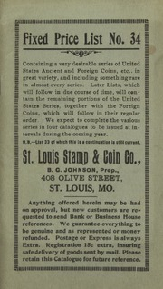 St. Louis Stamp & Coin Co. Fixed Price List No. 34