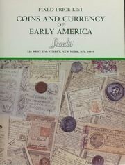 Fixed Price List: Coins and Currency of Early America