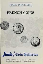 Fixed Price List: French Coins