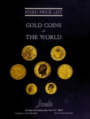 Fixed Price List: Gold Coins of The World
