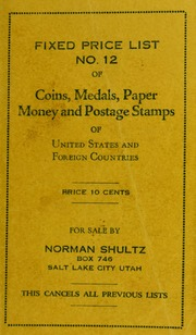 Fixed Price List No. 12 of Coins, Medals, Paper Money and Postage Stamps