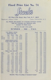 Fixed Price List No. 74