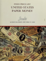 Fixed Price List: United States Paper Money