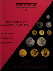 Fixed Price List: United States Coins, Paper Money and Medals