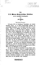 F.J. Mones bruhrainisches Idiotikon aus der Handschrift