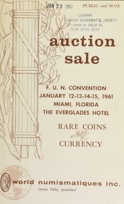 The Florida United numismatists 6th annual convention auction sale. [01/12-15/1961]