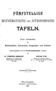 Fünfstellige mathematische und astronomische Tafeln