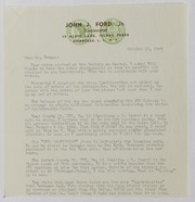 John J. Ford, Jr. Correspondence, 1949