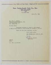 John J. Ford, Jr. Correspondence, 1953