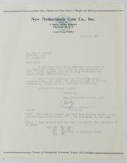 John J. Ford, Jr. Correspondence, 1955