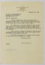 John J. Ford, Jr. Correspondence, 1958