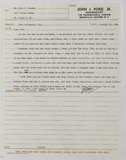 John J. Ford, Jr. Correspondence, 1964