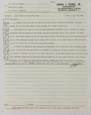 John J. Ford, Jr. Correspondence, 1966
