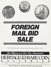 Foreign Mail Bid Sale: Fall 1986