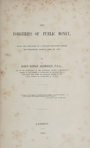 The Forgeries of Public Money