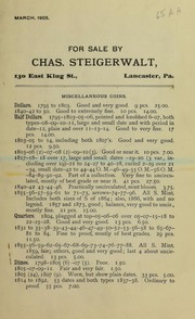 For Sale by Charles Steigerwalt, March 1905