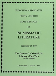Forty-Eighth Mail Bid Sale of Numismatic Literature