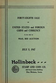 Forty-Eighth Sale of United States and Foreign Coins and Currency