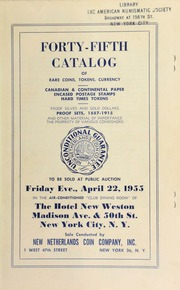 Forty-fifth catalog of rare coins, tokens, currency. [04/22/1955]