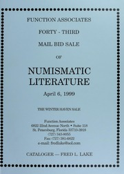 Forty-Fifth Mail Bid Sale of Numismatic Literature