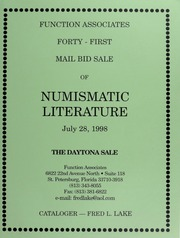 Forty-First Mail Bid Sale of Numismatic Literature