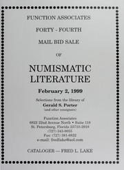 Forty-Fourth  Mail Bid Sale of Numismatic Literature