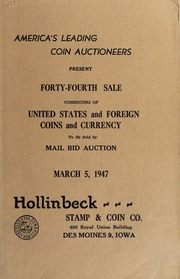 Forty-Fourth Sale Consisting of United States and Foreign Coins and Currency