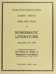 Forty-Ninth Mail Bid Sale of Numismatic Literature
