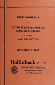Forty-Ninth Sale of United States and Foreign Coins and Currency