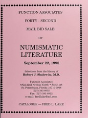 Forty-Second Mail Bid Sale of Numismatic Literature