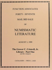 Forty-Seventh Mail Bid Sale of Numismatic Literature