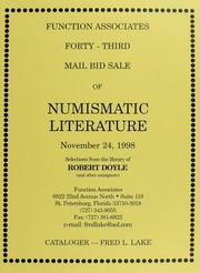 Forty-Third Mail Bid Sale of Numismatic Literature