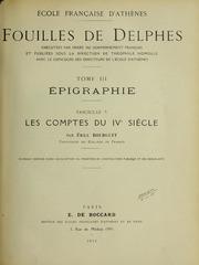 Vol tome 3, fasc. 5: Fouilles de Delphes