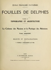 Vol tome 2, fasc. 7: Fouilles de Delphes