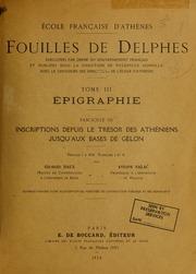 Vol tome 3, fasc. 3: Fouilles de Delphes