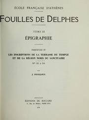 Vol tome 3, fasc. 4, livr. 4: Fouilles de Delphes